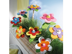 Threaded Flower Decorations