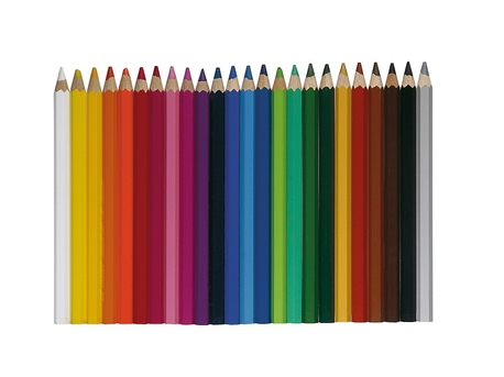 Pencil Set, 24 colors, thick