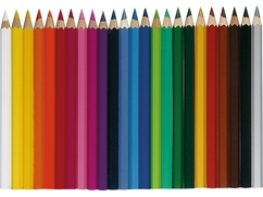 Pencil Set, 24 colors, three-sided