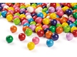Colorfully Polished Wooden Beads